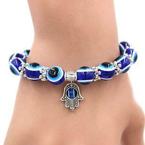 Handmade Hamsa Evil Eye Beads elastic Bracelet